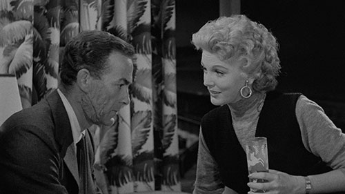 "jpg Mark Stevens stars as ""Vic Barron,"" and Martha Hyer as ""Peggy Harding"""