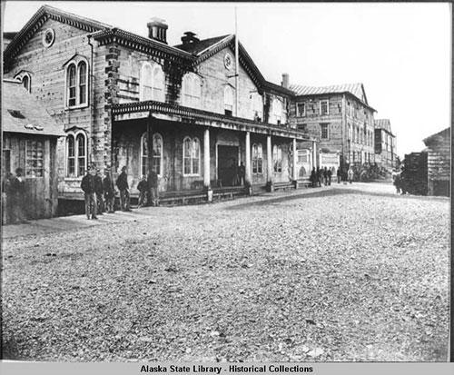 jpg U.S. Army headquarters., Sitka, Alaska ca. 1868-69.