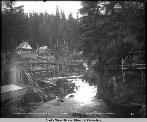 jpg Ketchikan Creek. Ketchikan Alaska. Oct. 7, 1905.