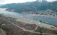 Gravina airport is 45 years old; Jet age came to Tongass Narrows in 1973, a promised bridge did not