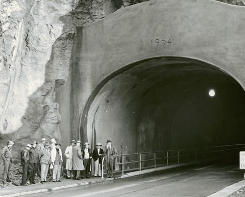 jpg North portal of the new Ketchikan Tunnel, 1954