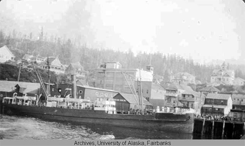 jpg View of Ketchikan's harbor, 1896 to 1913