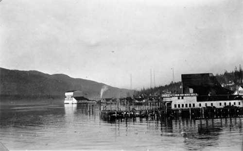 jpg In the background: Radio Towers, Ketchikan, circa 1924-1944