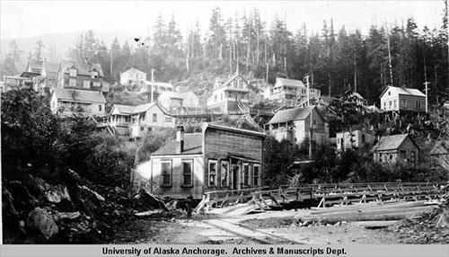 jpg View of Ketchikan, Alaska 1918