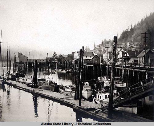 jpg Ketchikan, Alaska. Waterfront view 1900-1910.