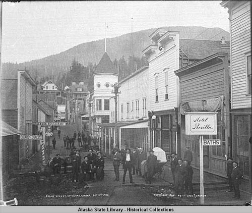 jpg Front Street. Ketchikan, Alaska. Oct. 5th 1905