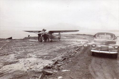 jpg Herman Ludwigsen landed his Piper plane at Mountain Point in 1953. Photo courtesy Herman Ludwigsen ©