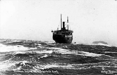 jpg Princess Sophia stuck on the Vanderbilt Reef 1918