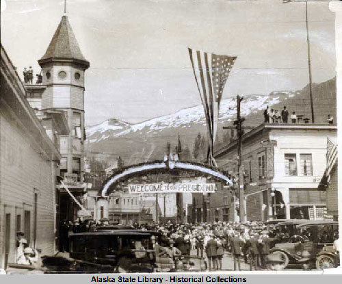 jpg Ketchikan welcomes President Harding to town.