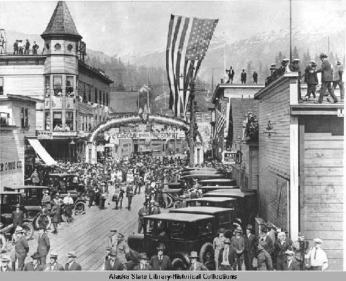 jpg President Harding's Trip to Ketchikan, Alaska, 1923.