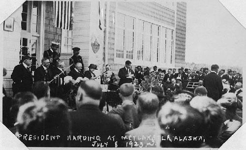 jpg President Harding at Metlakatla, Alaska.