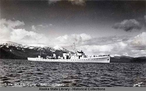 jpg USCG cutter CYANE in Ketchikan, Alaska.ca 1913-1939