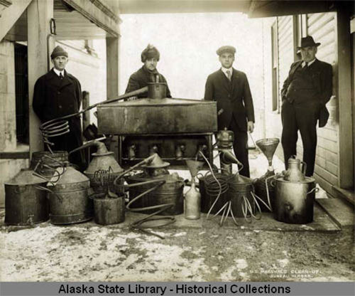 jpg U.S. Marshals clean-up booze in South East Alaska during Prohibition years. 1913-1939