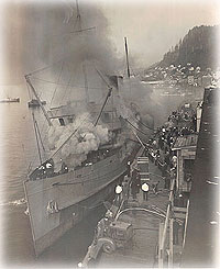 he Burning of the S.S. Prince George; One Crewman died when fire destroyed liner at Ketchikan Dock in 1945