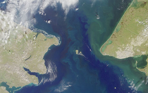 jpg Satellite image of Bering Strait: Cape Dezhnyov, the easternmost cape in Siberia, Russia is on the left; Seward Peninsula, Alaska, USA in on the right....