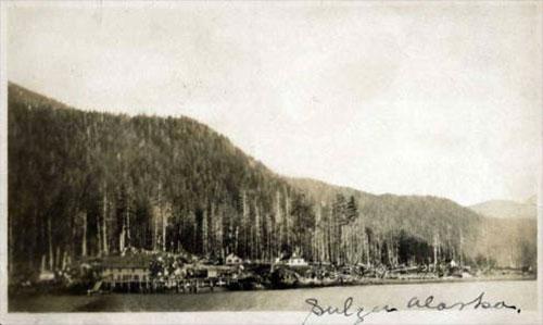 jpg Mining Camp at Sulzer, Alaska ca 1910