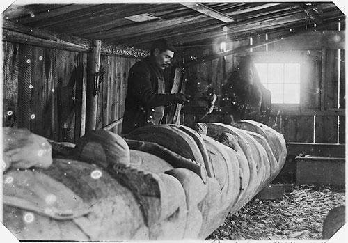 jpg Sydney Campbell, native Metlakahtlan, skilled wood carver