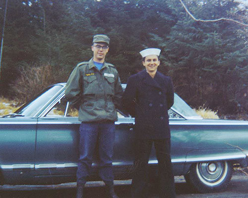 jpg Photo of Joey Whitney and Bill Hollywood taken in Ketchikan shortly before Whitney died in Vietnam.