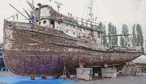 jpg Steinbeck's famous boat  hopes to sail again