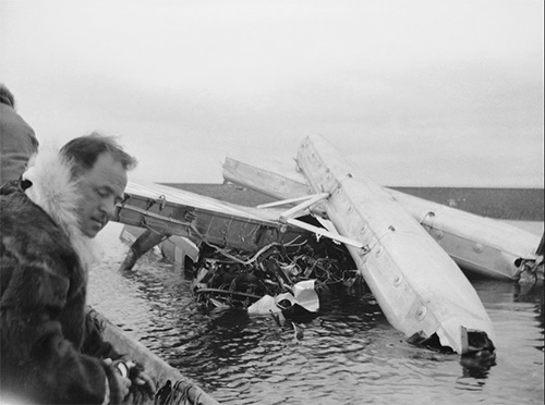 jpg Wreckage of the Will Rogers' plane crash.