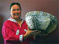 Woman Inspired To Make Fish Skin Baskets
