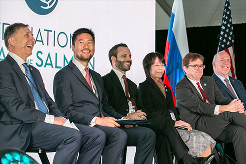 jpg Dignitaries of the North Pacific Anadromous Fish Commission member countries