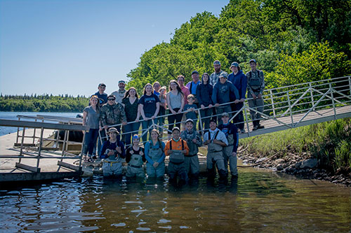 jpg The Bristol Bay Fly Fishing and Guide Academy class of 2018 poses at Bear Trail Lodge.