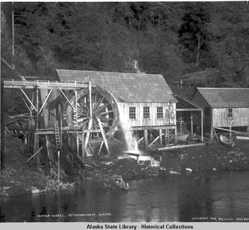 jpg Water-wheel - Ketchikan Creek, Alaska. 1905.